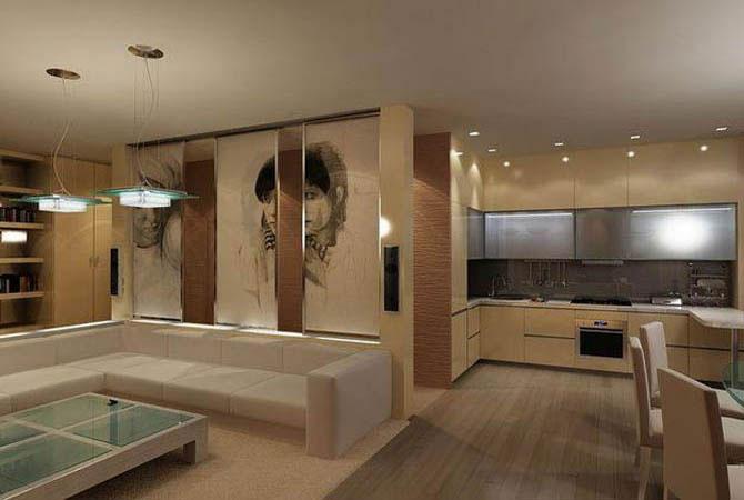интерьер кухни прихожей обыкновенной квартиры