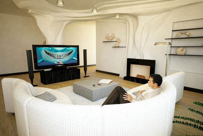 Дизайн зала 30 кв.м фото в доме