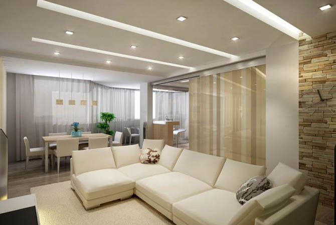 дизайн проекты квартир потолки