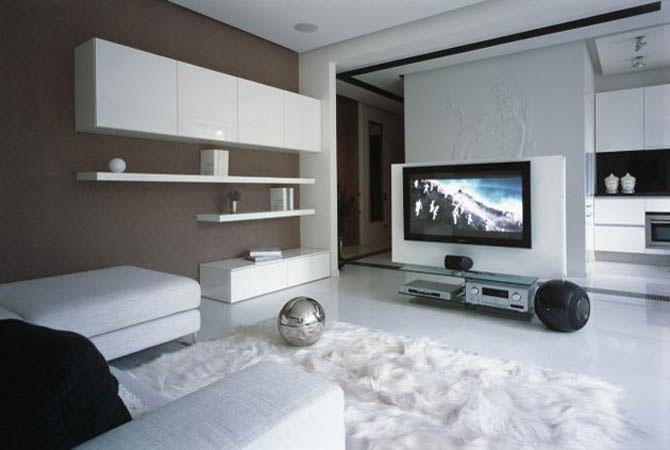 отделка диким камнем квартиры