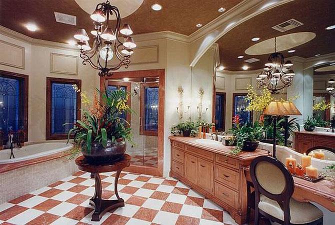 интерьер квартиры домашними цветами