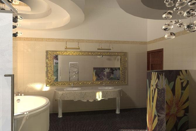 ремонт ванной комнаты стандартной