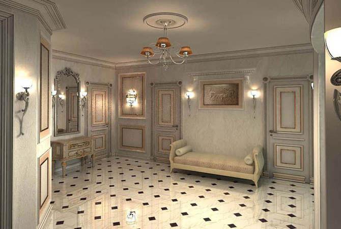 дизайн однокомнатной квартиры студии с кроватью