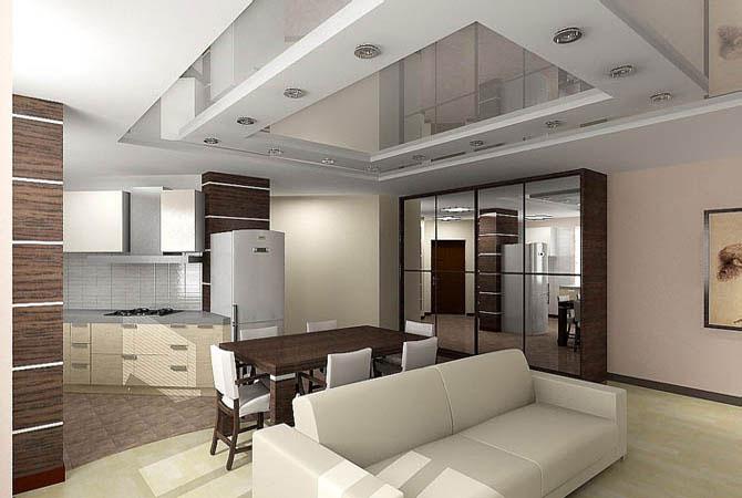 интерьер гостинной с фото 3-комнатной квартиры