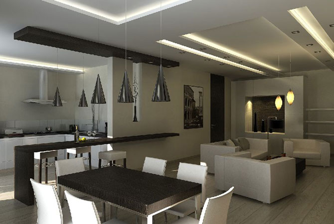 дизайнерское оформление 2-х комнатной квартиры типового проекта