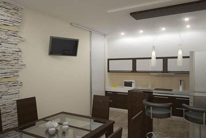 интерьер 3 комнатной п44