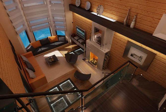 внутренняя отделка деревянного дома в москве