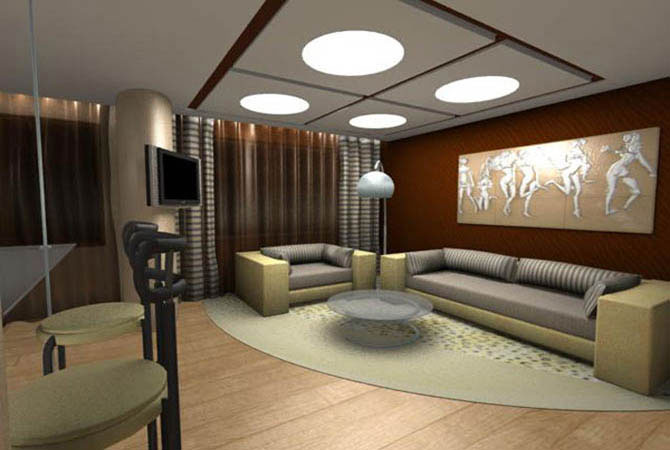проект интерьер комнаты для кухни фото