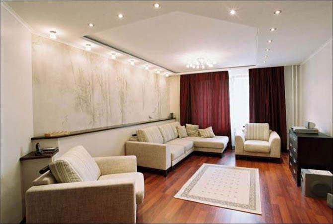 Интерьер для однокомнатной квартиры 40 кв.м фото