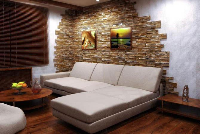 дизайн и облицовка стен комнат кафелем