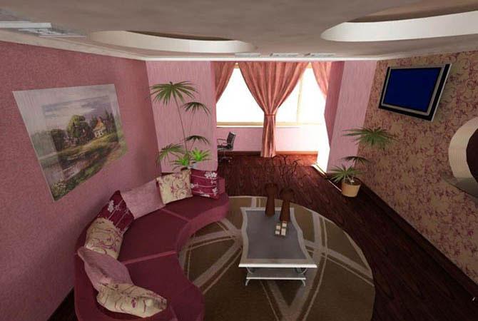 интерьер общей комнаты в двухкомнатной квартире